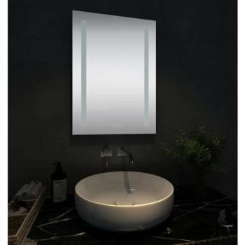 Прямоугольное зеркало с LED подсветкой Стокгольм Холодный свет