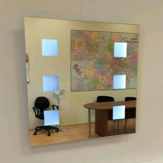 Квадратное зеркало с LED подсветкой Астор в интернет-магазине ROSESTAR фото