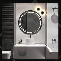 Круглое зеркало с LED подсветкой Астрид