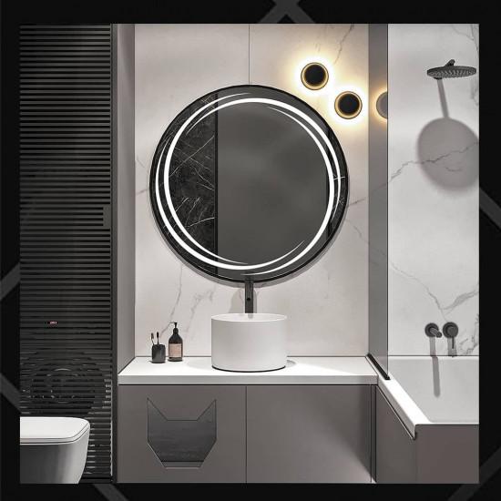 Круглое зеркало с LED подсветкой Астрид в интернет-магазине ROSESTAR фото