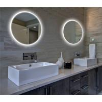 Круглое настенное зеркало со светодиодной LED-подсветкой Барнетт