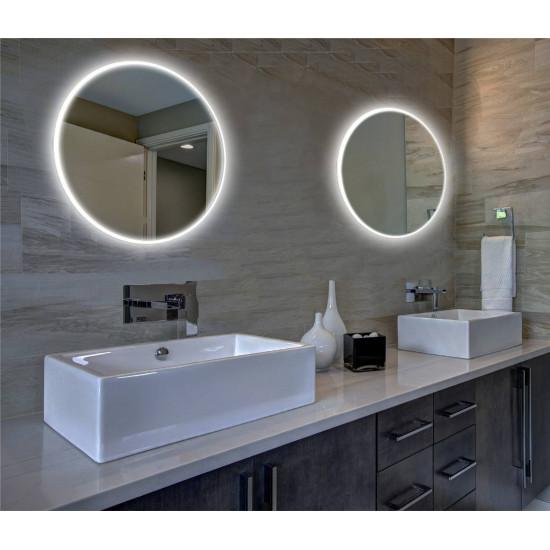 Круглое настенное зеркало со светодиодной LED-подсветкой Барнетт в интернет-магазине ROSESTAR фото