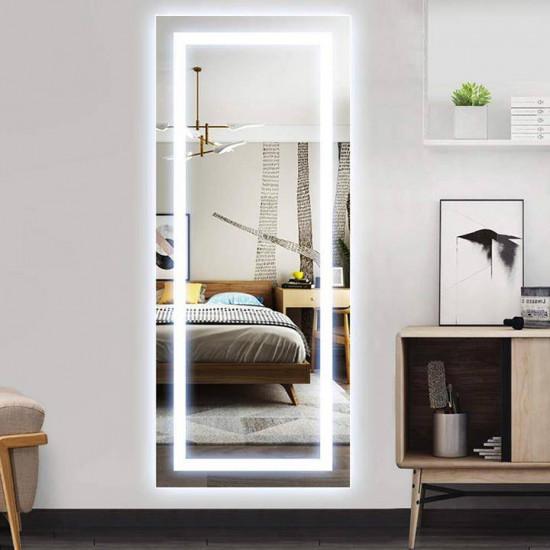 Зеркало большое напольное и настенное в полный рост с LED подсветкой Бриджит в интернет-магазине ROSESTAR фото