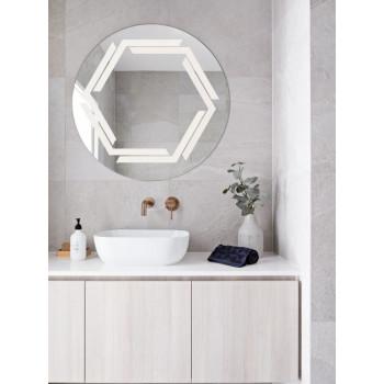 Круглое зеркало с LED подсветкой Эйвери