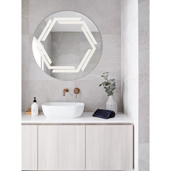 Круглое зеркало с LED подсветкой Эйвери в интернет-магазине ROSESTAR фото