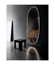 Овальное настенное зеркало со светодиодной LED-подсветкой Джейд