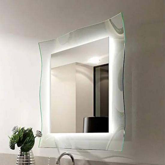 Зеркало на стеклянном основании с подсветкой Люмьер в интернет-магазине ROSESTAR фото