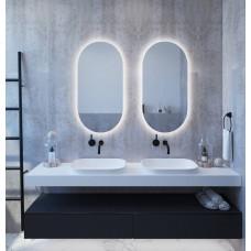 Овальное настенное зеркало с задней подсветкой Мэриэнн