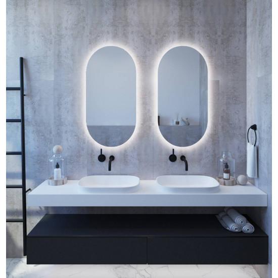Овальное настенное зеркало с задней подсветкой Мэриэнн в интернет-магазине ROSESTAR фото