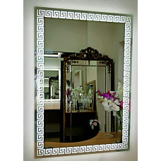 Прямоугольное зеркало меандр с LED подсветкой Meander 2