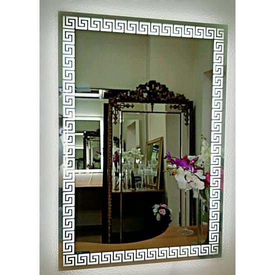 Прямоугольное зеркало меандр с LED подсветкой Meander 2 в интернет-магазине ROSESTAR фото