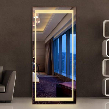 Зеркало большое напольное и настенное в полный рост с LED подсветкой Синди