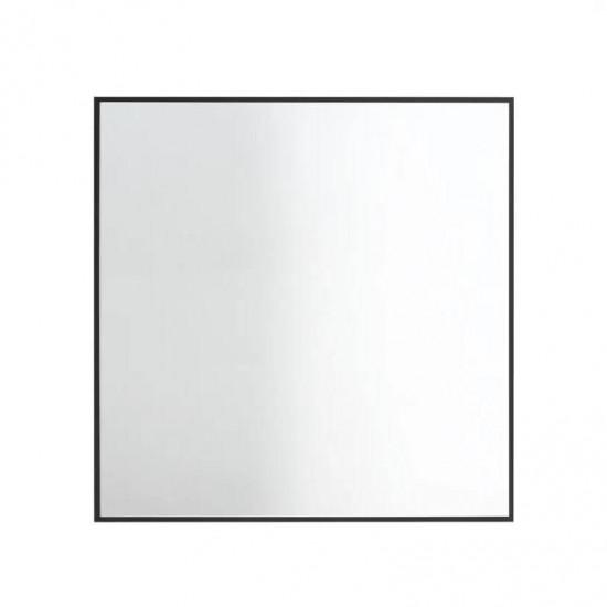 Квадратное зеркало в черной металлической раме Плаза