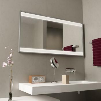 Зеркало с подсветкой в алюминиевой раме Клэри