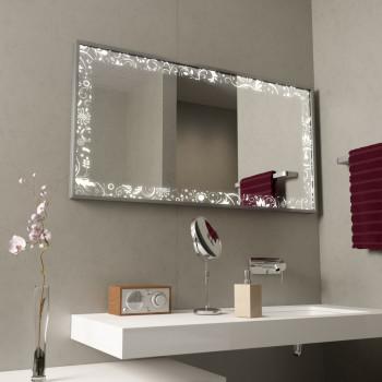 Зеркало с подсветкой в алюминиевой раме Флорис