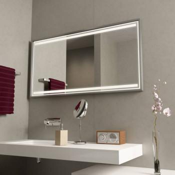 Зеркало с подсветкой в алюминиевой раме Модерн 2