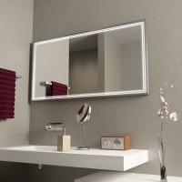 Зеркало в алюминиевой раме с подсветкой Модерн 3