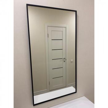 Зеркало в черной металлической раме Рэфорд Вертикальное