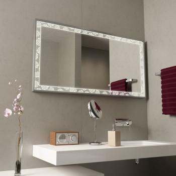 Зеркало с подсветкой в алюминиевой раме Розы