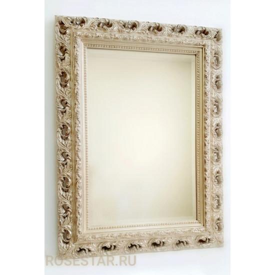 Зеркало прямоугольное настенное в багете «Реймс» Серебро Шампань в интернет-магазине ROSESTAR фото