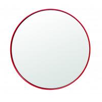 Круглое зеркало в металлической раме Амстердам Красное