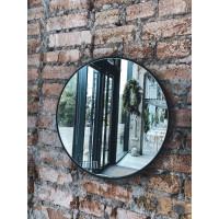 Круглое зеркало в металлической раме Амстердам Черное