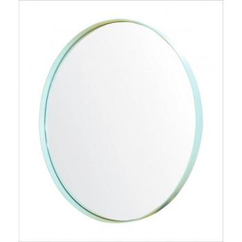 Круглое зеркало в металлической раме Амстердам Мятный