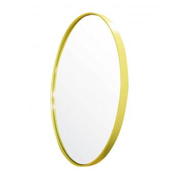 Круглое зеркало в металлической раме Амстердам Жёлтое
