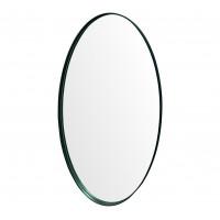 Овальное зеркало в черной металлической раме Невада