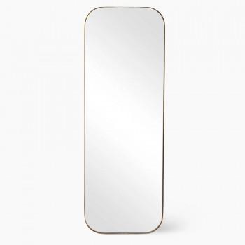 Зеркало в металлической  золотой раме Акридж