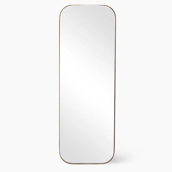Зеркало в тонкой металлической золотой раме Акридж