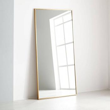 Напольное и настенное зеркало в золотой металлической раме Сити