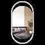 Овальное зеркало в белой металлической раме Эвелин