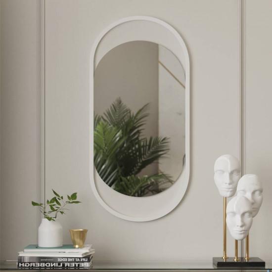 Овальное зеркало в белой металлической раме Эвелин в интернет-магазине ROSESTAR фото