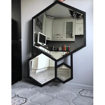 Тройное зеркало в металлической раме Фауст