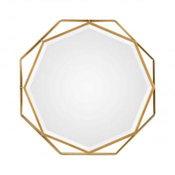 Зеркало в золотой металлической раме Фиала