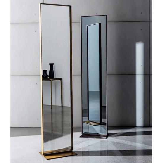 Напольное зеркало в полный рост в металлической золотой раме Итан в интернет-магазине ROSESTAR фото