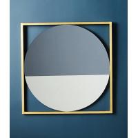 Зеркало двухцветное в золотой декоративной металлической раме Камилия