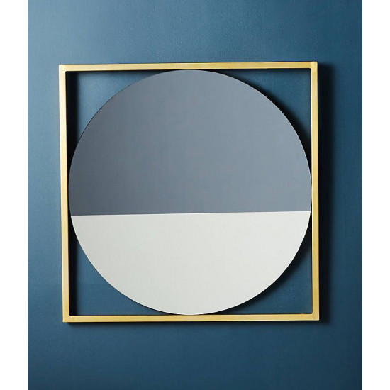 Зеркало двухцветное в золотой декоративной металлической раме Камилия в интернет-магазине ROSESTAR фото