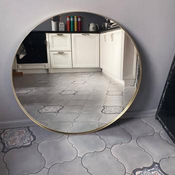 Круглое зеркало в латунной раме Кингхэм