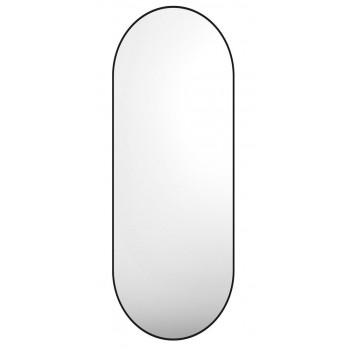 Овальное зеркало в металлической черной раме Ленора