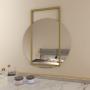 Круглое зеркало с золотой декоративной металлической рамой Мэлори