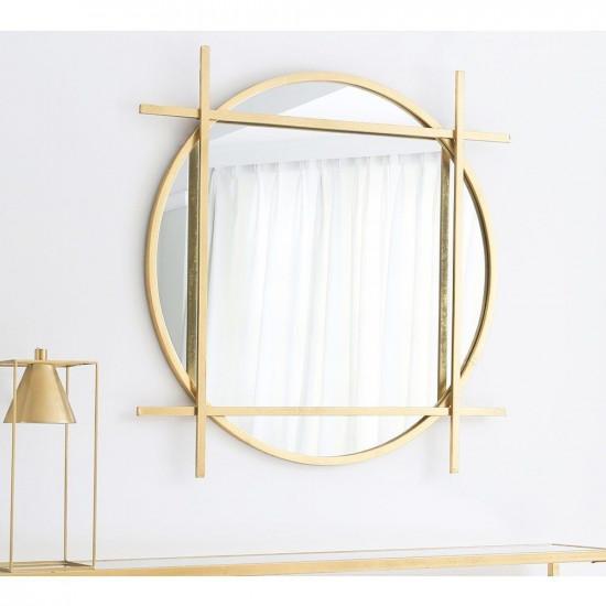 Круглое зеркало в золотой декоративной металлической раме Мэрил в интернет-магазине ROSESTAR фото