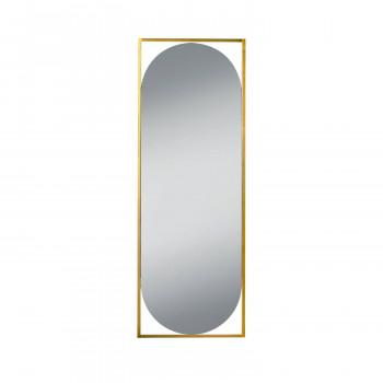 Овальное зеркало в металлической золотой раме Мидвилл 2