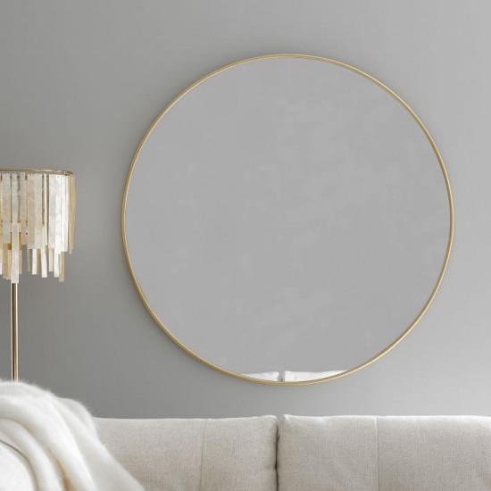 Круглое зеркало в золотой металлической раме Мирада D100 в интернет-магазине ROSESTAR фото