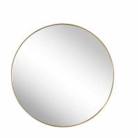Круглое зеркало в золотой металлической раме Мирада D50