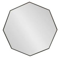 Восьмиугольное зеркало в черной металлической раме Морган