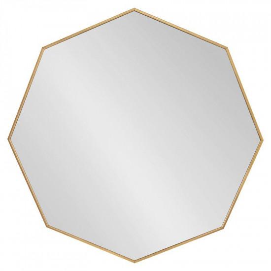 Восьмиугольное зеркало в золотой металлической раме Морган