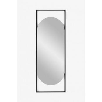 Овальное зеркало в металлической черной раме Визави