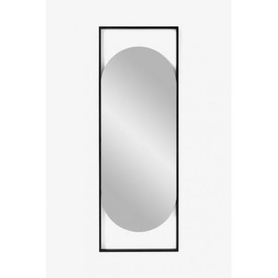 Овальное зеркало в металлической черной раме Визави в интернет-магазине ROSESTAR фото